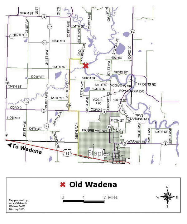 Map to the Old Wadena Society Rendezvous
